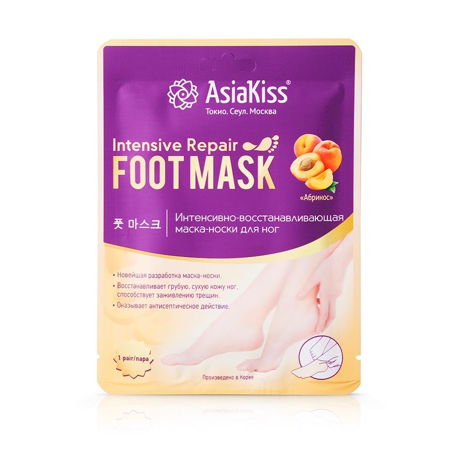 Маска-носки AsiaKiss Абрикос ультра-увлажняющая, 1 пара, 43 г маска носки для ног