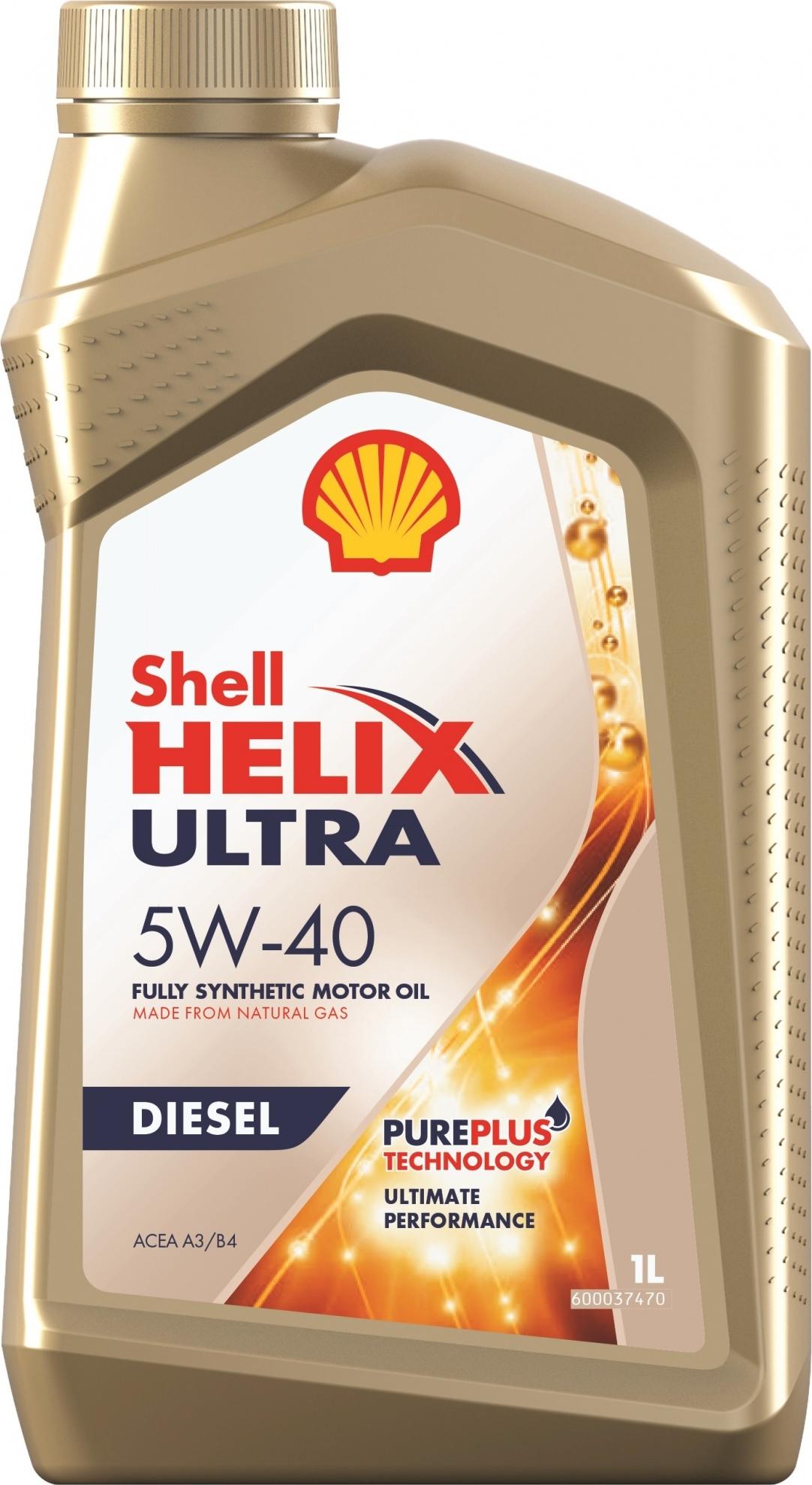 Моторное масло Shell Helix Ultra Diesel, синтетическое, 5W-40, 1 л