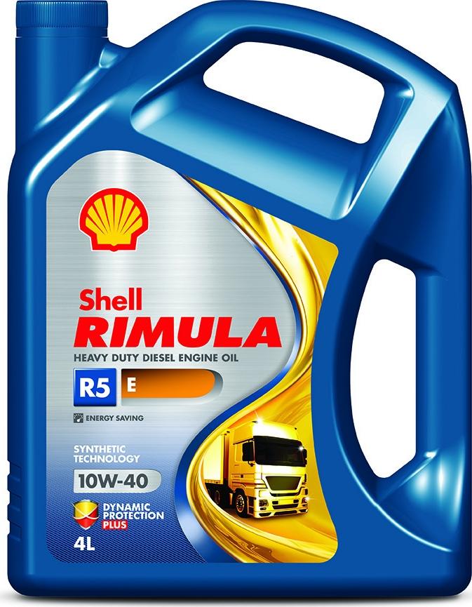 Масло моторное Shell Rimula R5 E для дизельных двигателей, 10W-40, полусинтетическое, 4 л