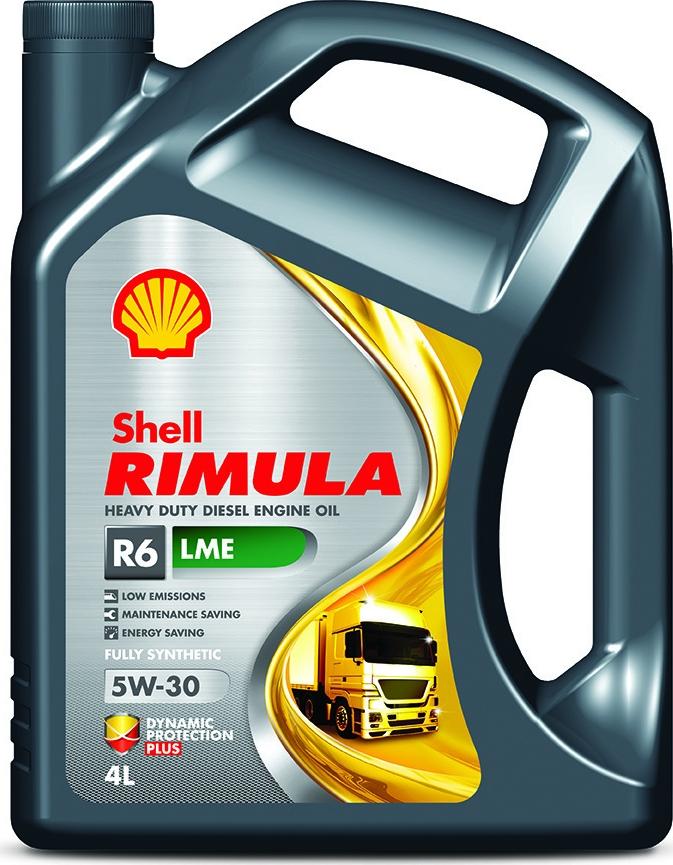 Масло моторное Shell Rimula R6 LME, 550044887, для дизельных двигателей, синтетическое, 5W-30, 4 л цена