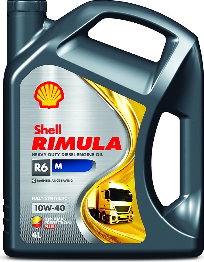Масло моторное Shell Rimula R6 M, 550044890, для дизельных двигателей, синтетическое, 10W-40, 4 л цена