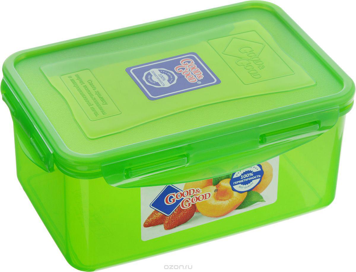 Контейнер пищевой Good&Good, цвет в ассортименте, 1,5 л контейнер пищевой good