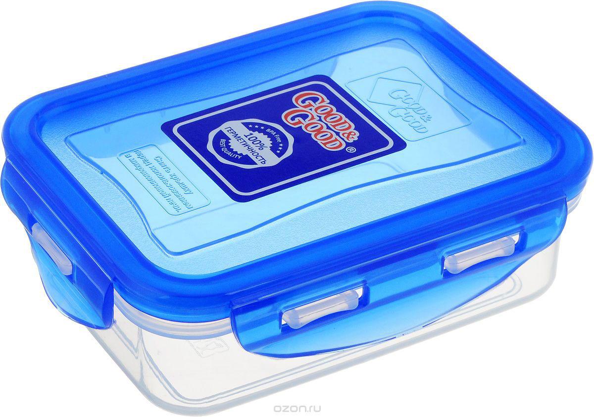 Контейнер пищевой Good&Good, цвет в ассортименте, 330 мл контейнер пищевой вакуумный bekker квадратный 330 мл