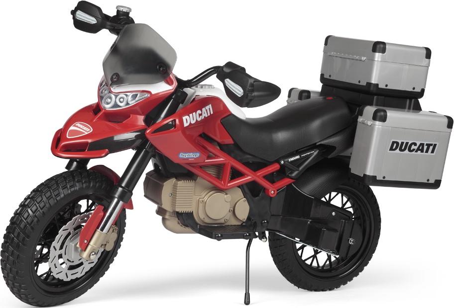 Детский электромотоцикл Peg-Perego Ducati Enduro, IGMC0023 мотоцикл для путешествий по бездорожью