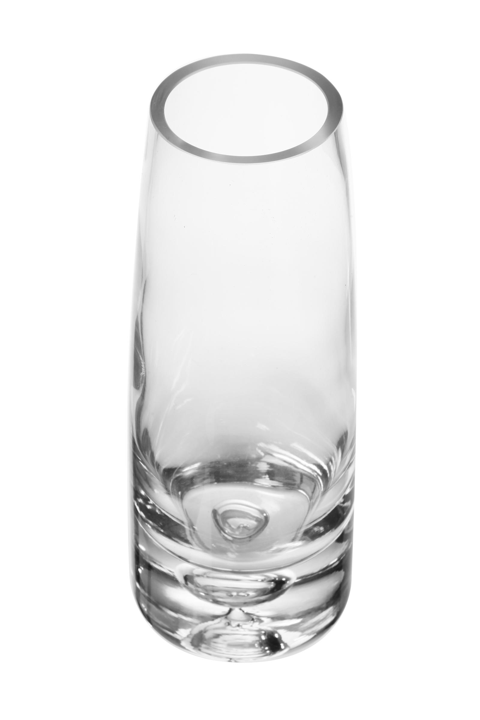 Ваза декоративная IsmatDecor, ST-2, стеклянная, прозрачный