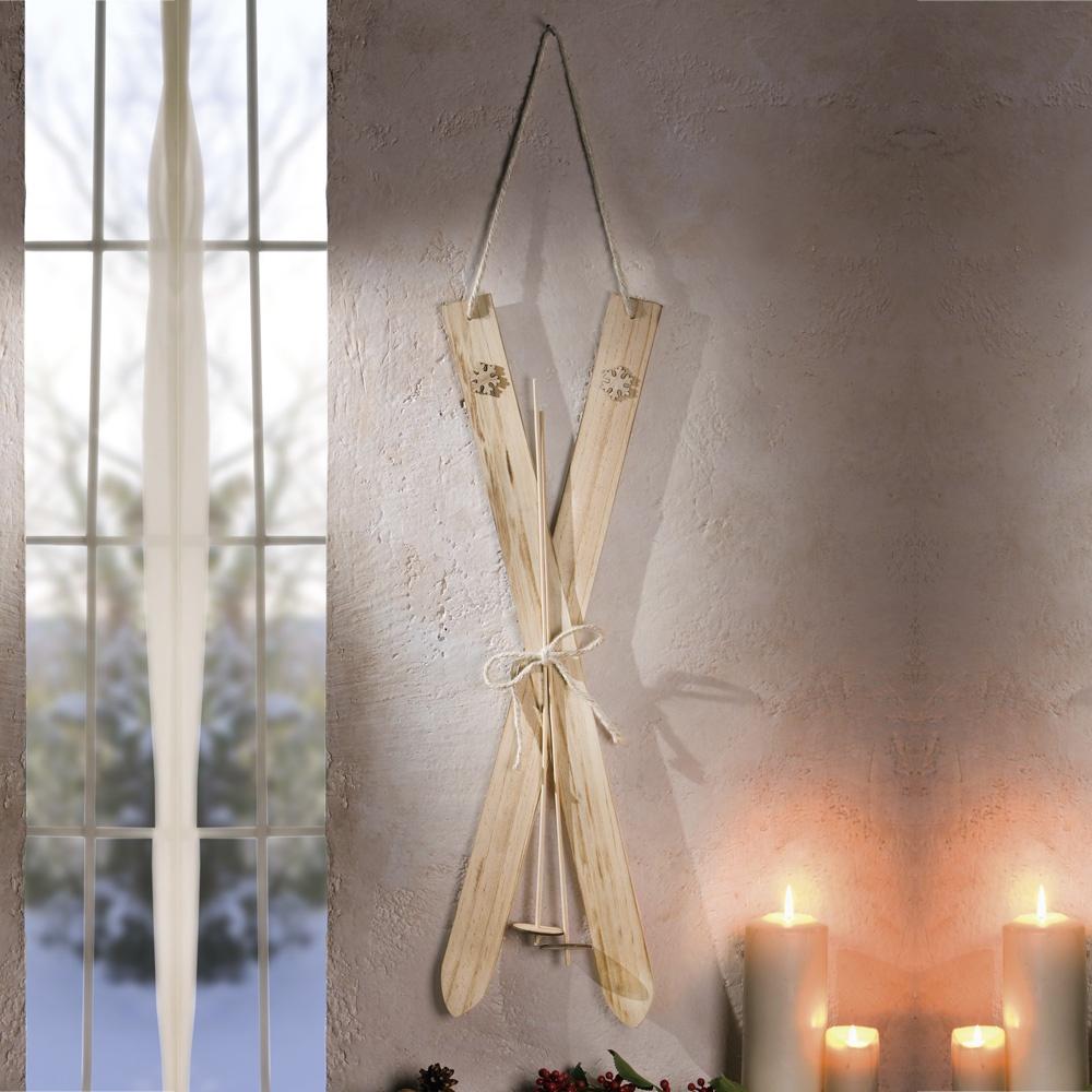 Декоративное подвесное украшение Хит-декор Лыжи - альпин