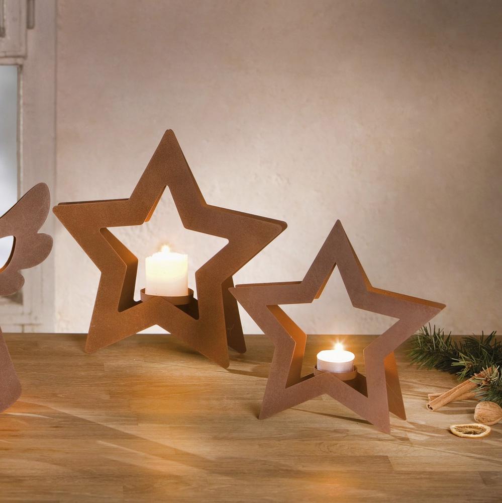 Подсвечники Хит-декор Звезды, 2 шт настольный декор ананас зеленый 12 х 12 х 22 см