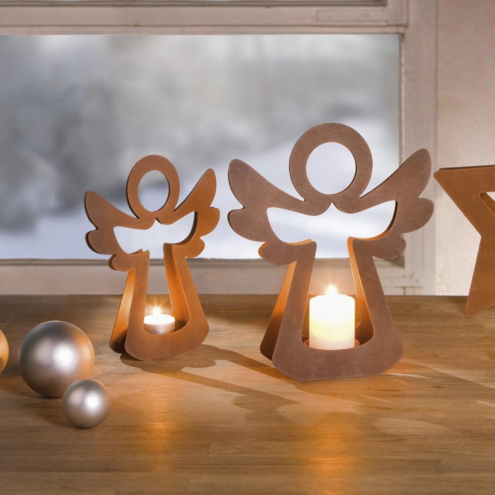 Подсвечники Хит-декор Ангелы, 2 шт настольный декор ананас зеленый 12 х 12 х 22 см