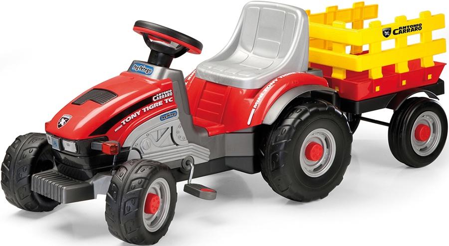 Детский педальный трактор Peg-Perego Mini Tony Tigre, IGCD0529 smoby 710108 трактор педальный xl с прицепом красный