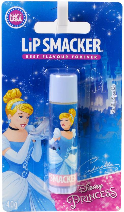 Бальзам для губ Lip Smacker Disney Cinderella Vanilla Sparkle, с ароматом Ваниль, 4 г косметика для мамы nivea lip care бальзам для губ ромашка и календула 4 8 г