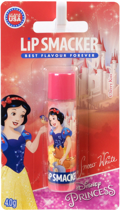 Бальзам для губ Lip Smacker Disney Snow White Cherry Kiss, с ароматом Вишневый Поцелуй, 4 г косметика для мамы nivea lip care бальзам для губ ромашка и календула 4 8 г