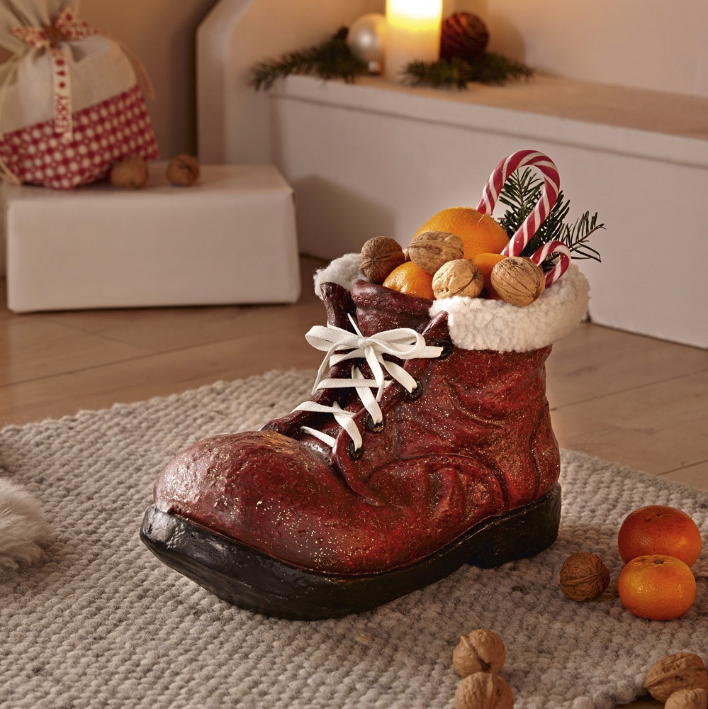 Декоративная фигура Хит-декор Рождественский ботинок, цвет: коричневый декор bradex автополив для растений флаура