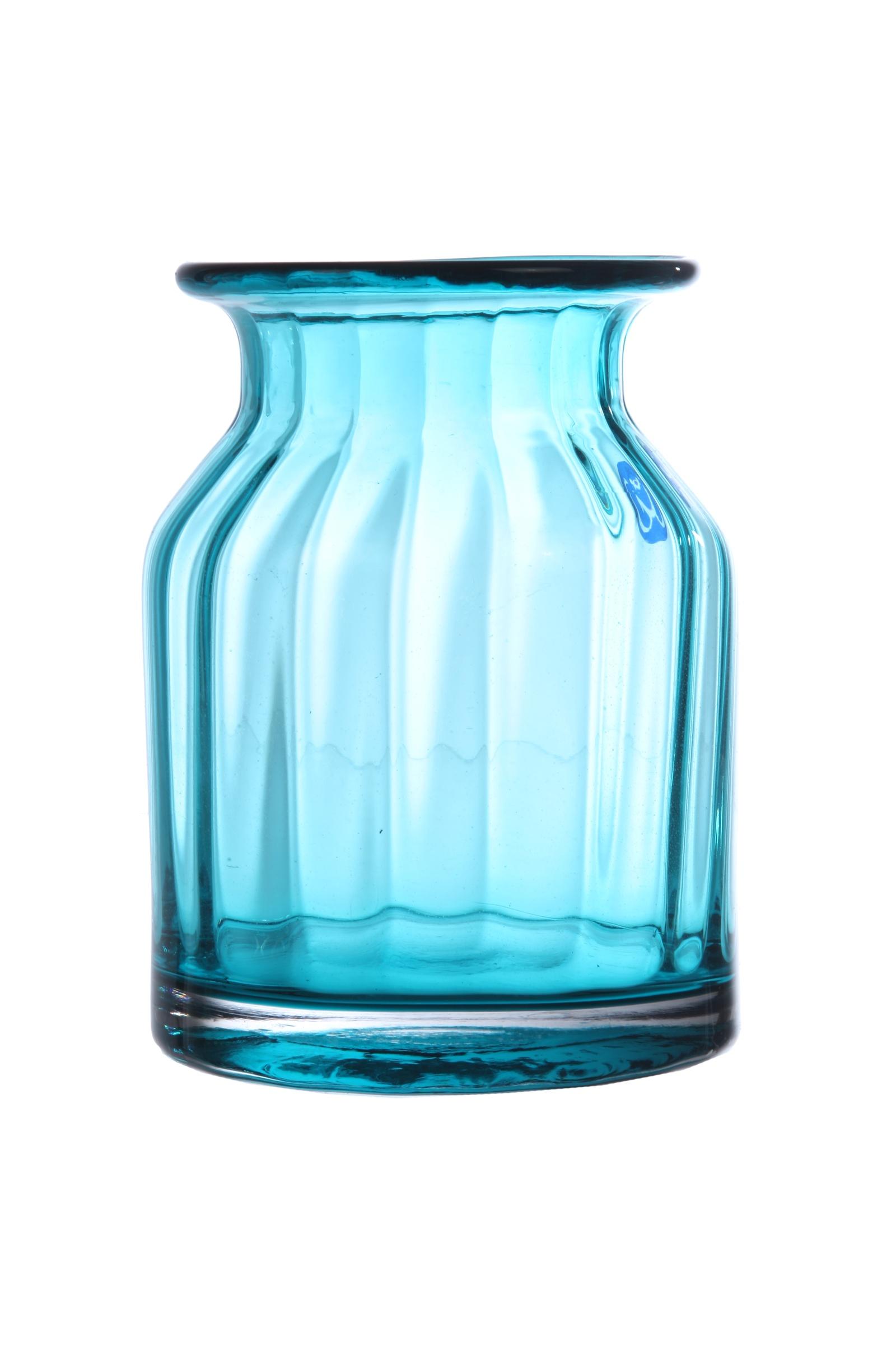 Ваза IsmatDecor Стеклянная ваза, ST-4 голубой, голубой