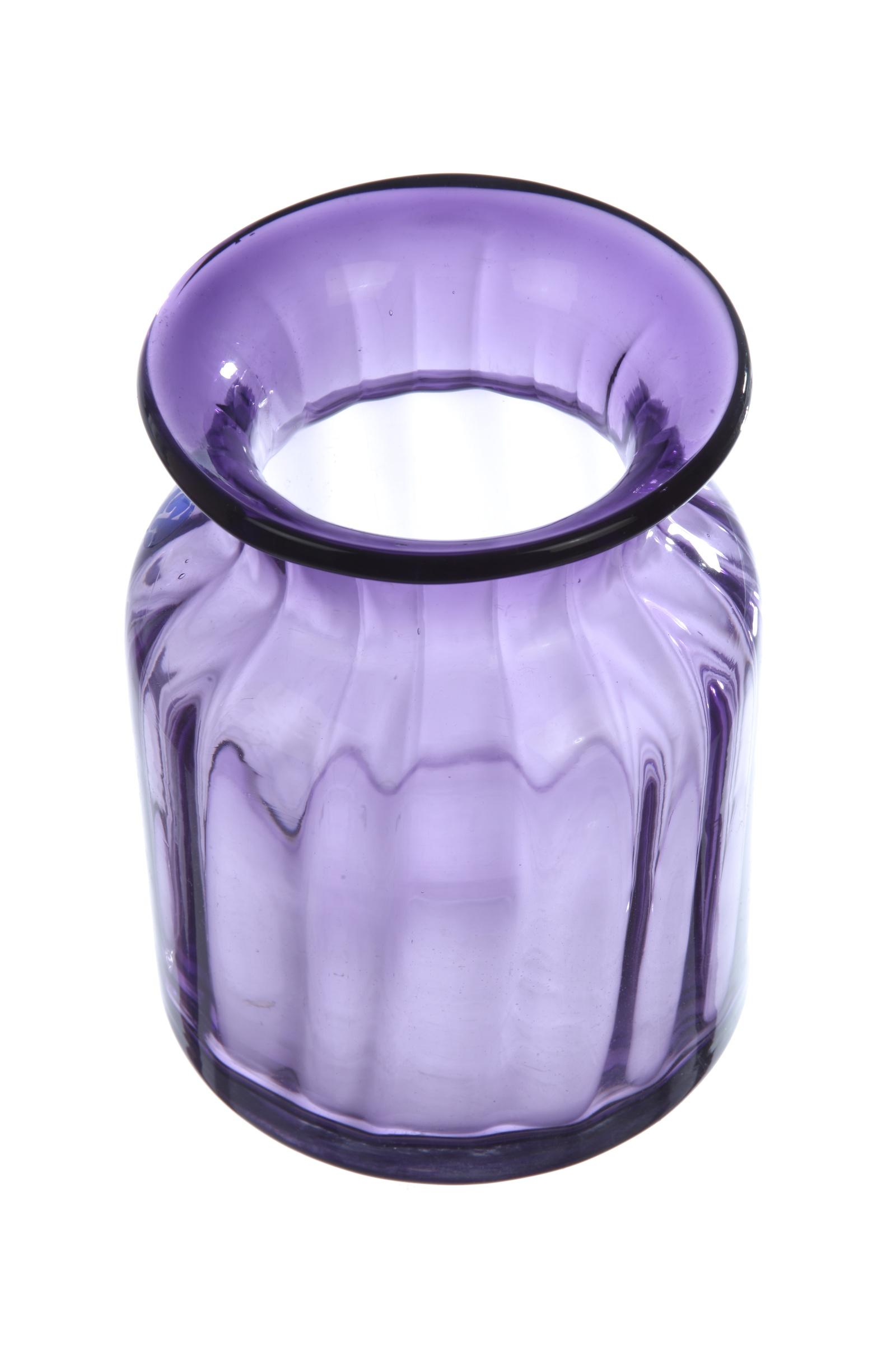 Ваза IsmatDecor Стеклянная ваза, ST-4, фиолетовый