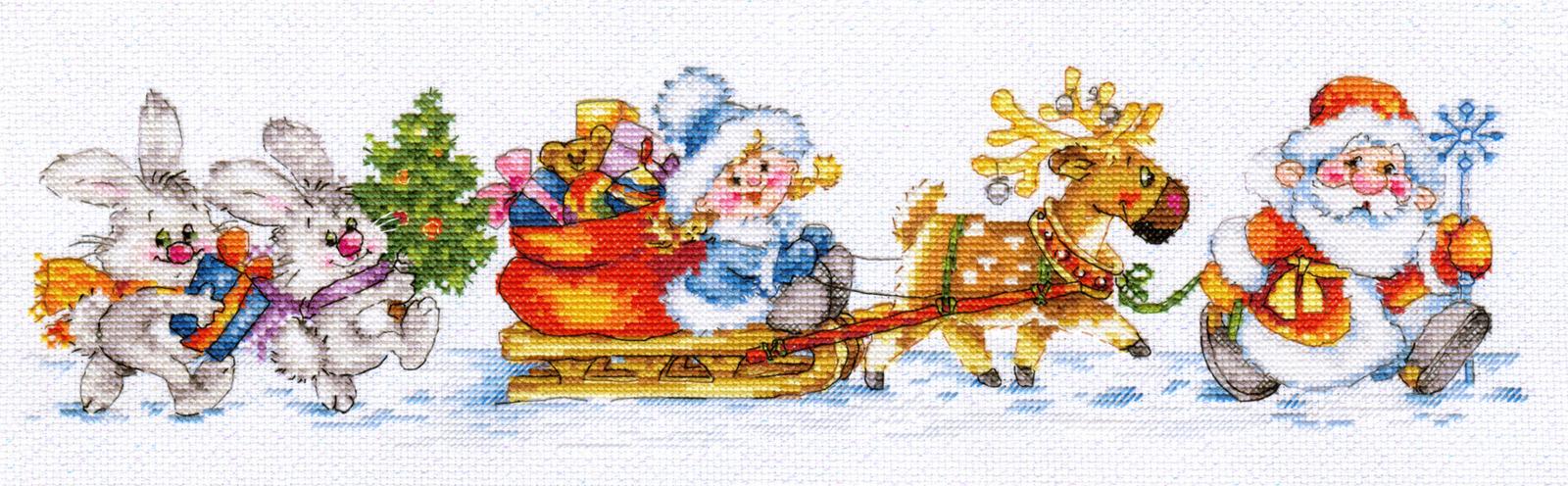 """Набор для вышивания Алиса """"С Новым годом!"""", 40 х 10 см"""