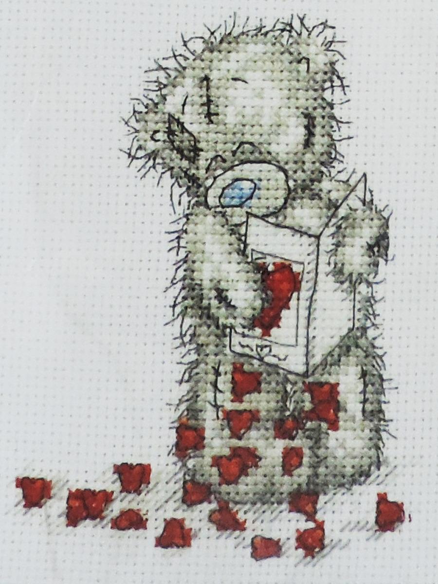 Набор для вышивания Anchor Сердечки, 11 х 8 см