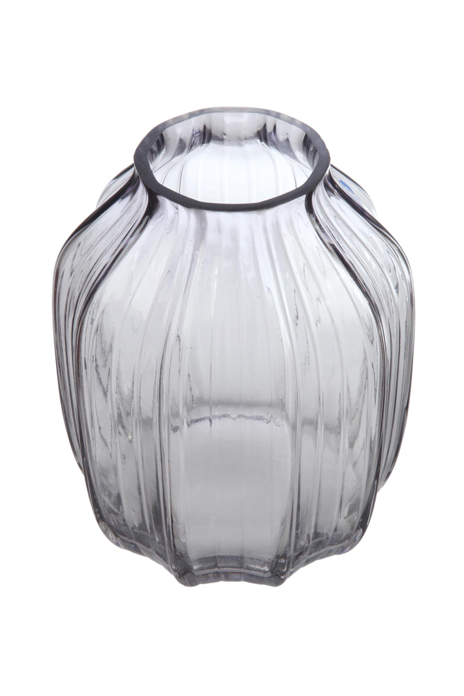 Ваза IsmatDecor Стеклянная ваза, ST-5 прозрачный, прозрачный