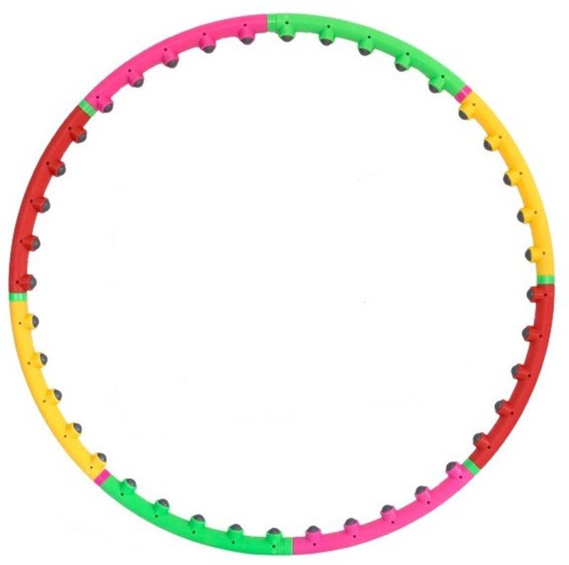Обруч гимнастический Atemi, массажный, разборный, цвет: мультиколор, диаметр 98 см. AWH100 цена 2017