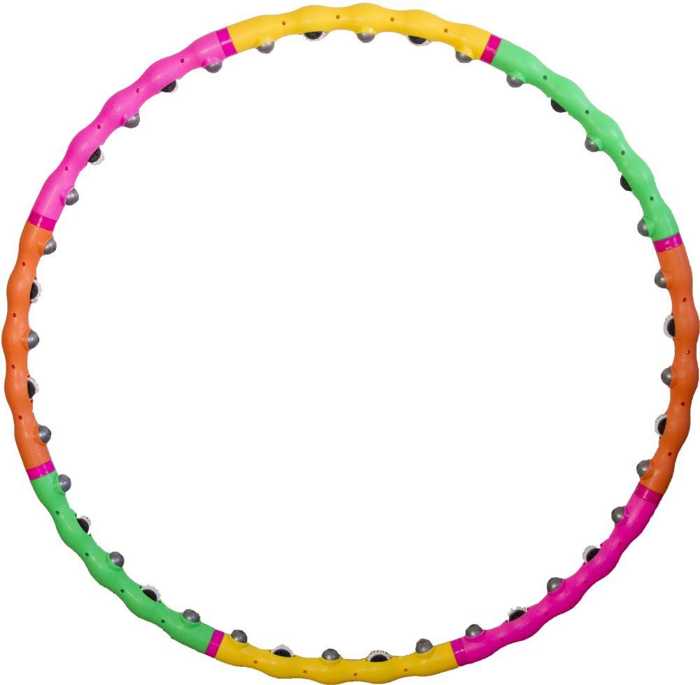Фото - Обруч гимнастический Atemi, массажный, разборный, цвет: мультиколор, диаметр 98 см. AWH-120 обруч гимнастический starfit обруч массажный hh 106 разборный 98 см