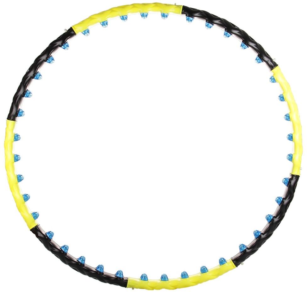 Фото - Обруч гимнастический Atemi, массажный, разборный, цвет: мультиколор, диаметр 110 см обруч гимнастический starfit обруч массажный hh 106 разборный 98 см