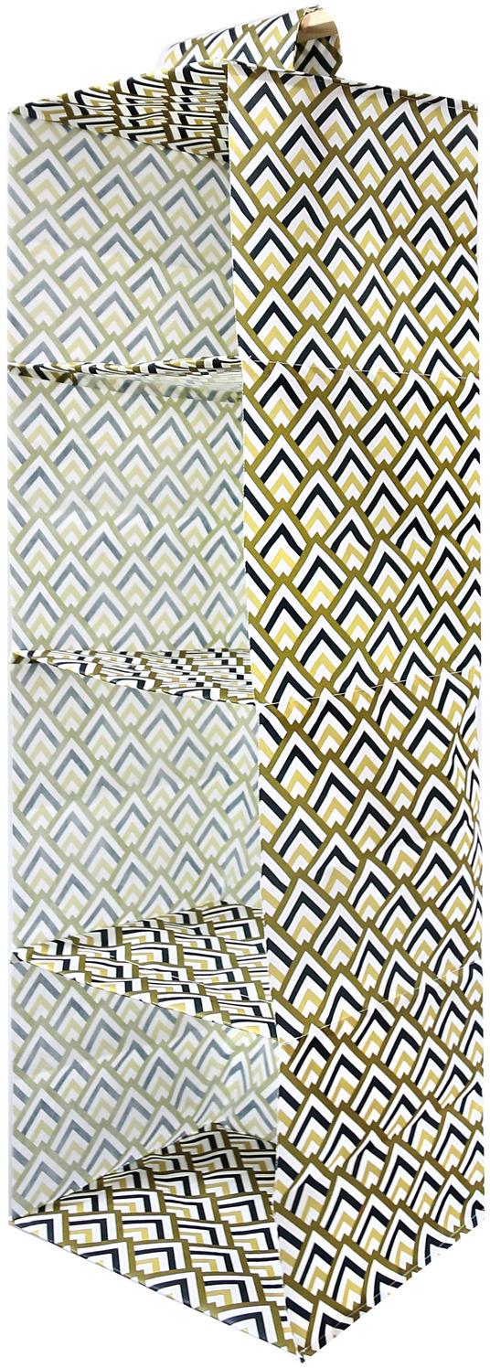 Органайзер для хранения Eva Черное золото, подвесной, 95 х 28 х 28 см органайзер подвесной для стирки tatkraft solver 42 х 28 5 х 149 см