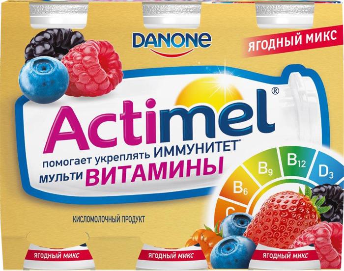 Продукт кисломолочный обогащенный 2,5% Актимель