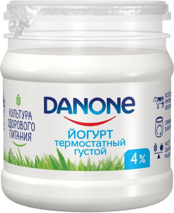 Йогурт термостатный 4,0% Danone, 160 г