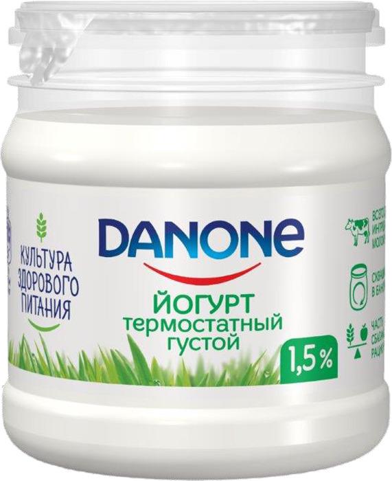 Йогурт термостатный 1,5% Danone, 160 г