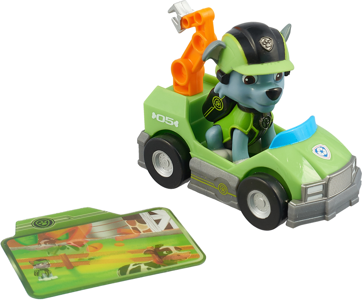 Набор игровой Paw Patrol: Мини-машинка спасателя и фигурка героя, Rocky armani emporio night for her