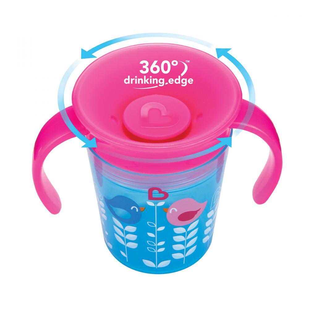 Поильник-непроливайка Munchkin Deco 360, с ручками, 6+, цвет: голубой, 177 млЦБ-00002398Удобная чашка-непроливайка позволит малышу приучиться к питью из взрослой посуды. поильник Munchkin 360 придуман с учетом как детей, так и их родителей. Этот поильник предотвращает любые проливания напитков, а также благодаря мягкому и гибкому материалу бережет зубы и десны малышей. Пить свой напиток малыш может по всей окружности - жидкость равномерно распределится под крышкой, под каким бы углом ребёнок не наклонил поильник.Никаких дополнительных носиков, соломинок и прочего. Особенности Герметичная конструкция поильника защищает от протекания жидкости специальная конструкция 360 позволяет пить по всей окружности бортика технология без горлышка лучше лучше подходит для зубов малыша, а также позволяет быстрее ребенку приучиться к взрослым чашкам клапан, обеспечивающий полную защиту от разливания закрывается после питья съемный клапан для простоты питья не содержит Бисфенол А.