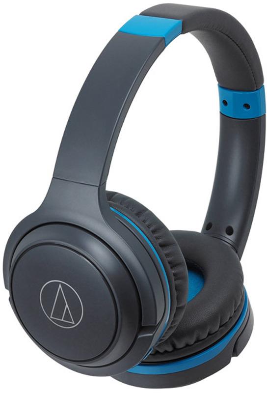 лучшая цена Беспроводные наушники Audio-Technica ATH-S200BTGBL, синий