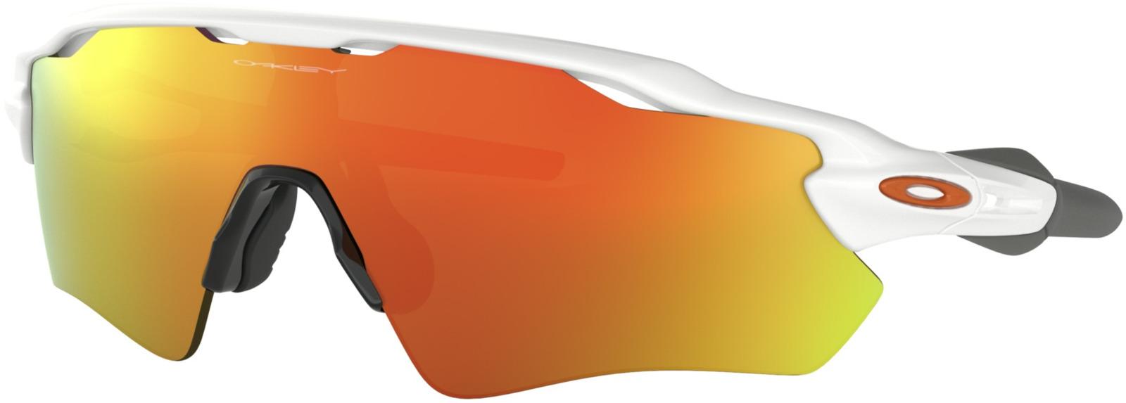 цена на Велосипедные очки Oakley Radar Ev Path Polished, цвет: белый, оранжевый