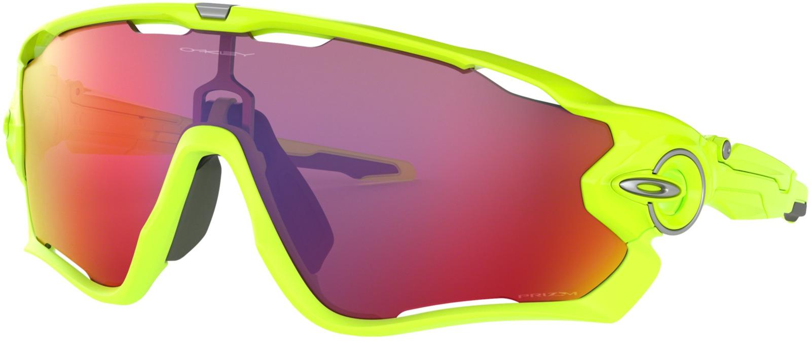 цена на Велосипедные очки Oakley Jawbreaker Retina, цвет: зеленый, розовый