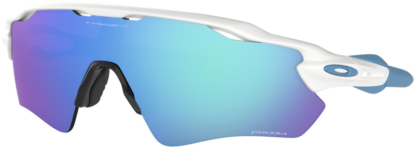 Велосипедные очки Oakley Radar Ev Path Polished, цвет: белый, голубой