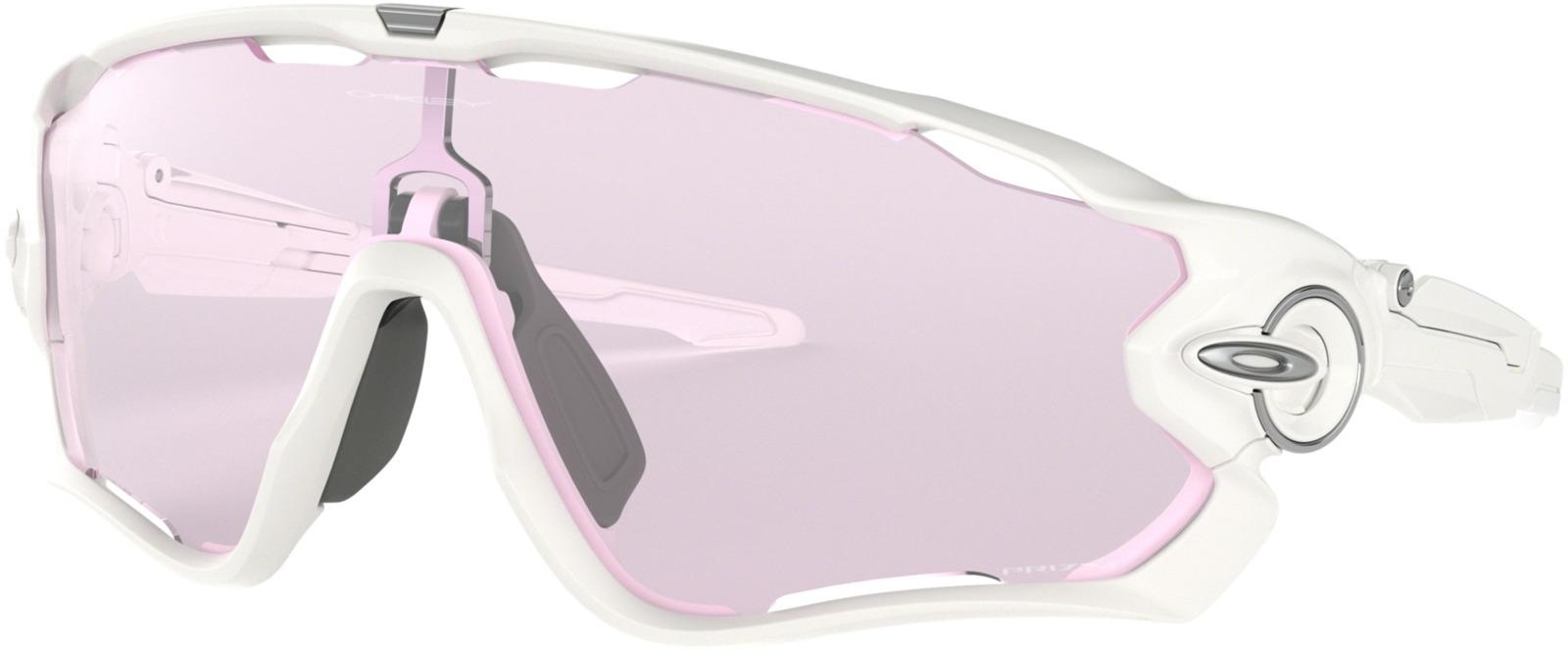 Велосипедные очки Oakley Jawbreaker Polished, цвет: белый