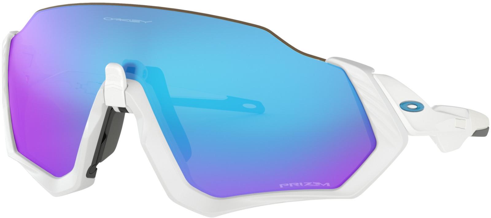 Велосипедные очки Oakley Flight Jacket Polished, цвет: белый