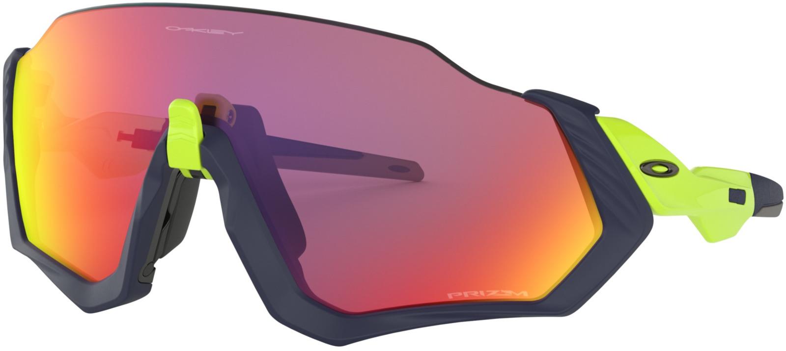 Велосипедные очки Oakley Flight Jacket, цвет: синий