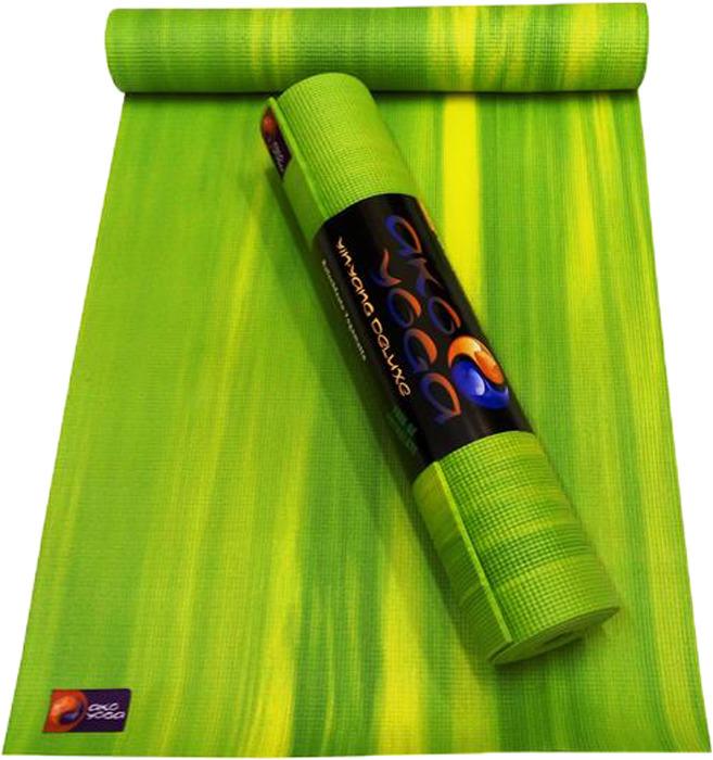 Коврик для йоги Ako-Yoga Ганг, цвет: зеленый, 185 х 60 см ганг сумка candy 6х16х22 см