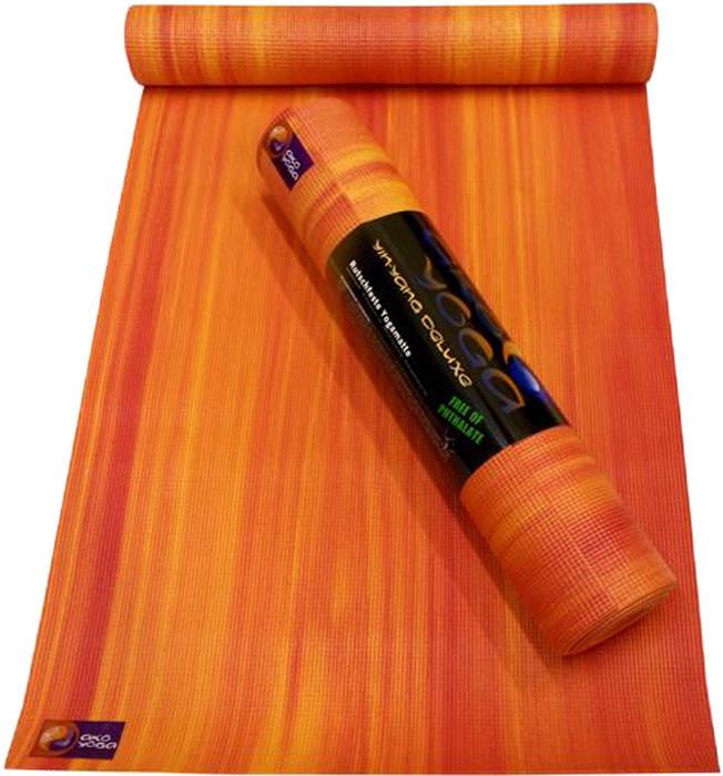 Коврик для йоги Ako-Yoga Ганг, цвет: красный, 185 х 60 см ганг сумка candy 6х16х22 см