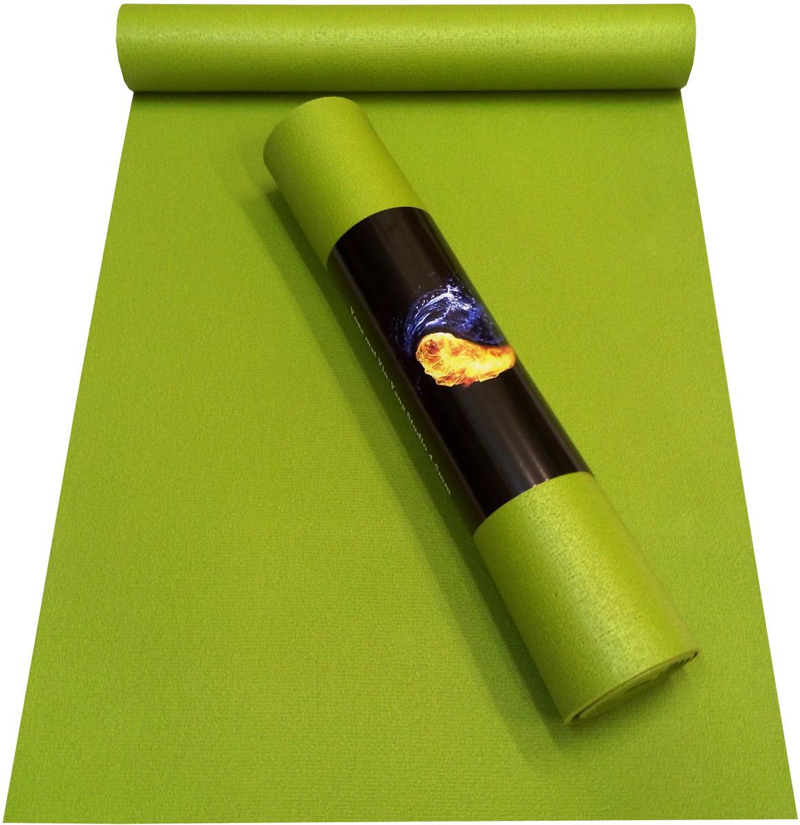 Коврик для йоги детский Ako-Yoga Yin-Yang Studio, цвет: зеленый, 150 х 60 х 0,45 см коврик для йоги ako yoga yin yang studio цвет синий 185 х 60 х 0 45 см