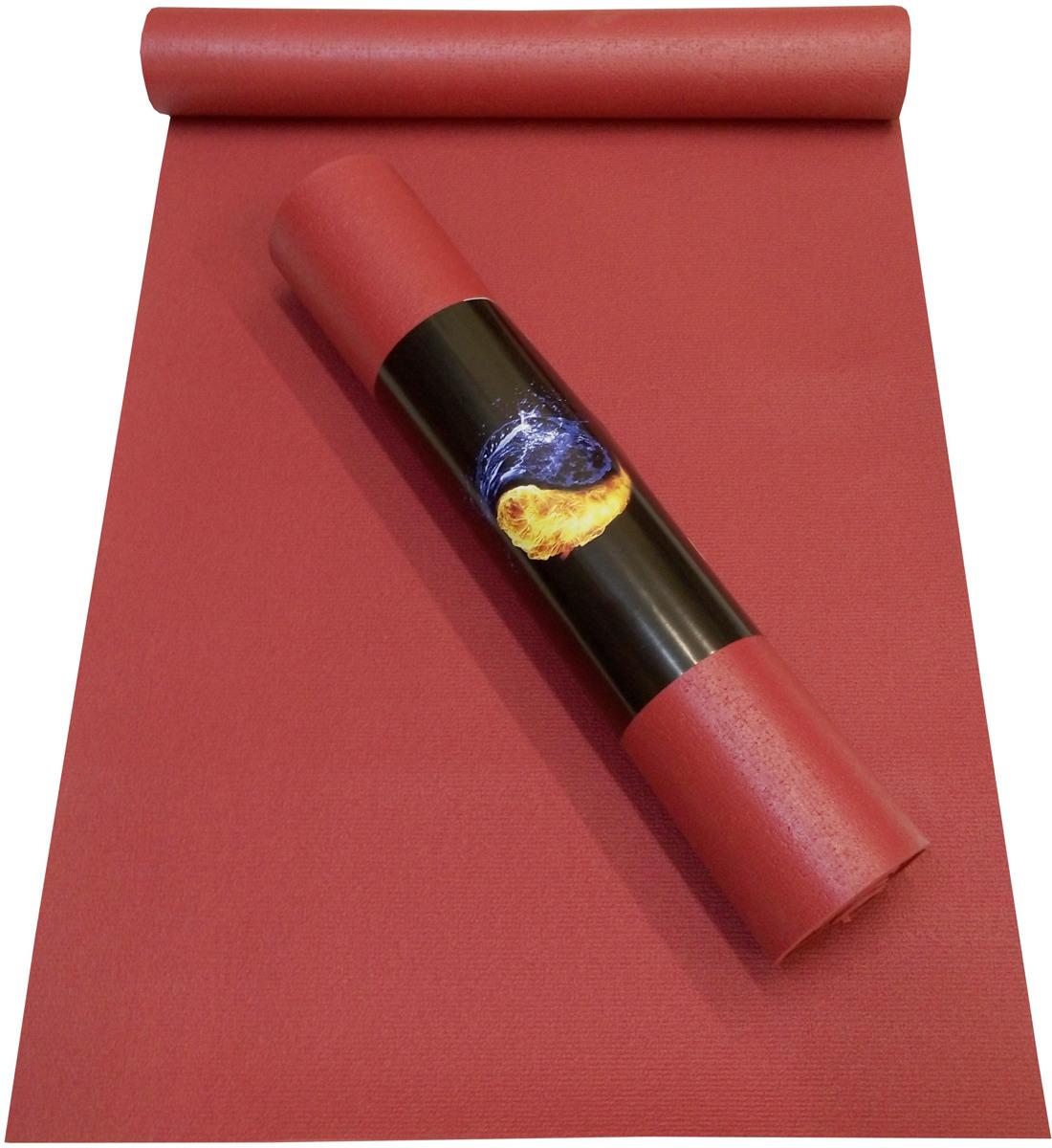 цена на Коврик для йоги Ako-Yoga Yin-Yang Studio, цвет: бордо, 200 х 80 см