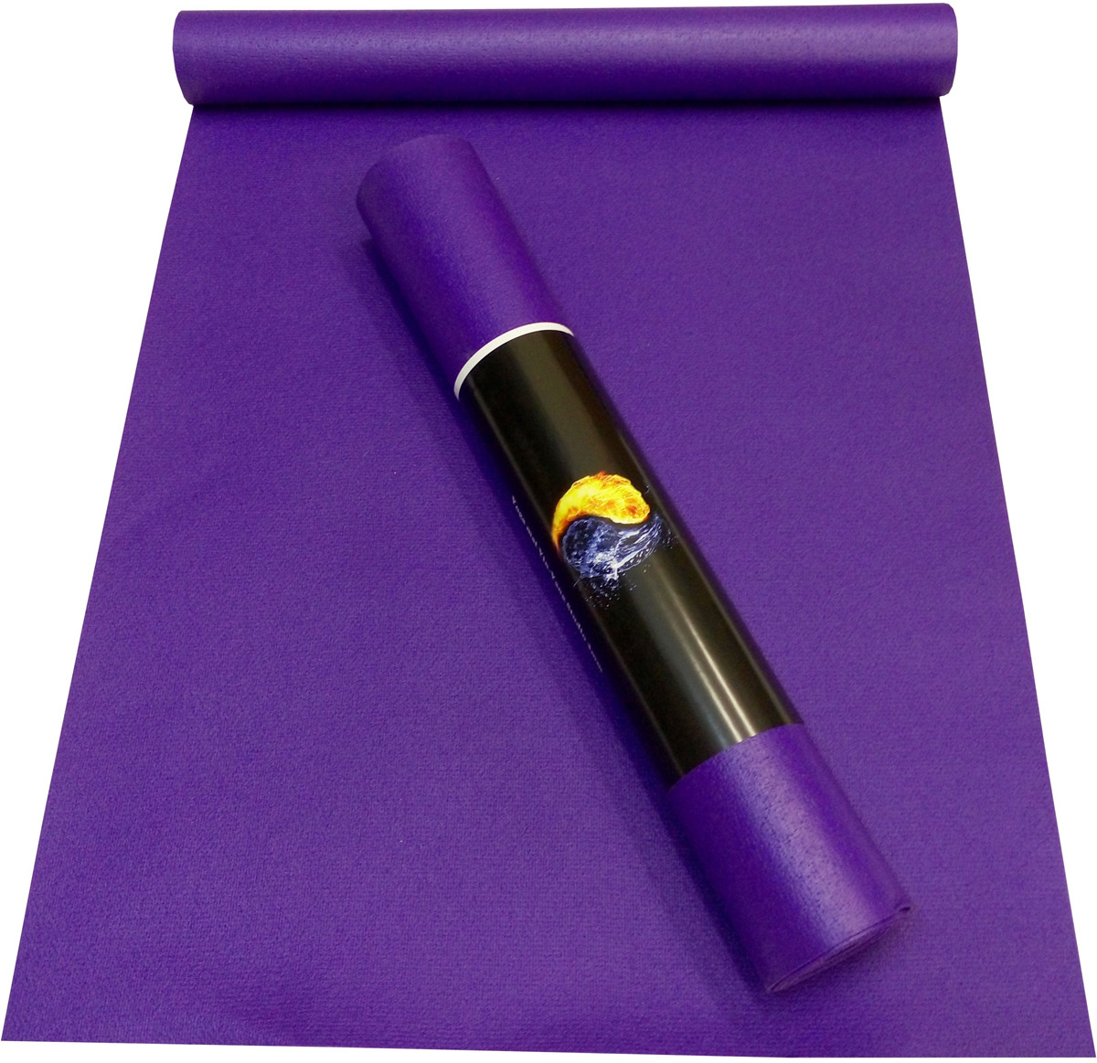 Коврик для йоги Ako-Yoga Yin-Yang Studio, цвет: фиолетовый, 220 х 80 см цены