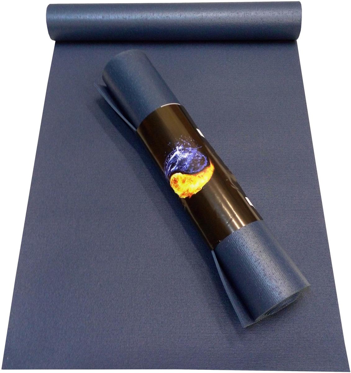 Коврик для йоги Ako-Yoga Yin-Yang Studio, цвет: синий, 200 х 80 см цена 2017