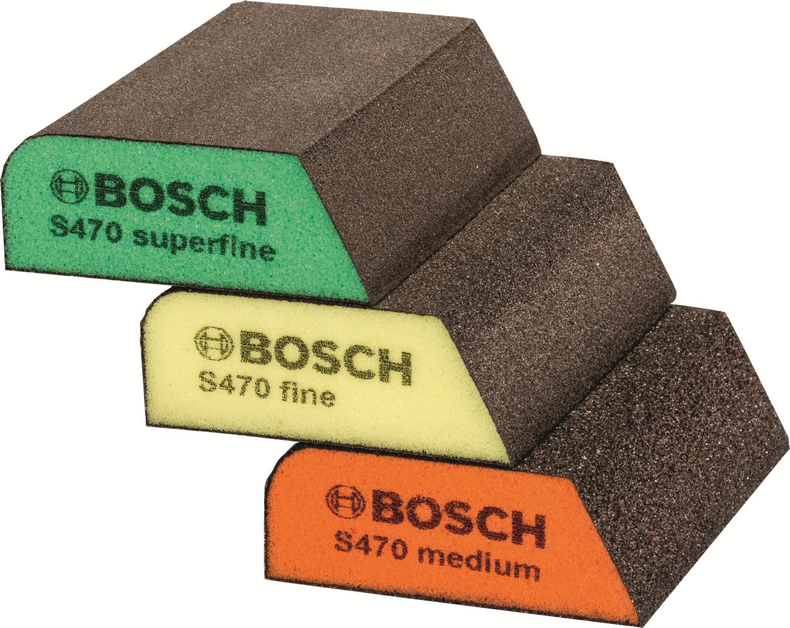 Набор губок шлифовальных Bosch Best for Profile, 69 x 97 x2 6 мм, 3 шт набор шлифовальных листов bosch 2609256a35