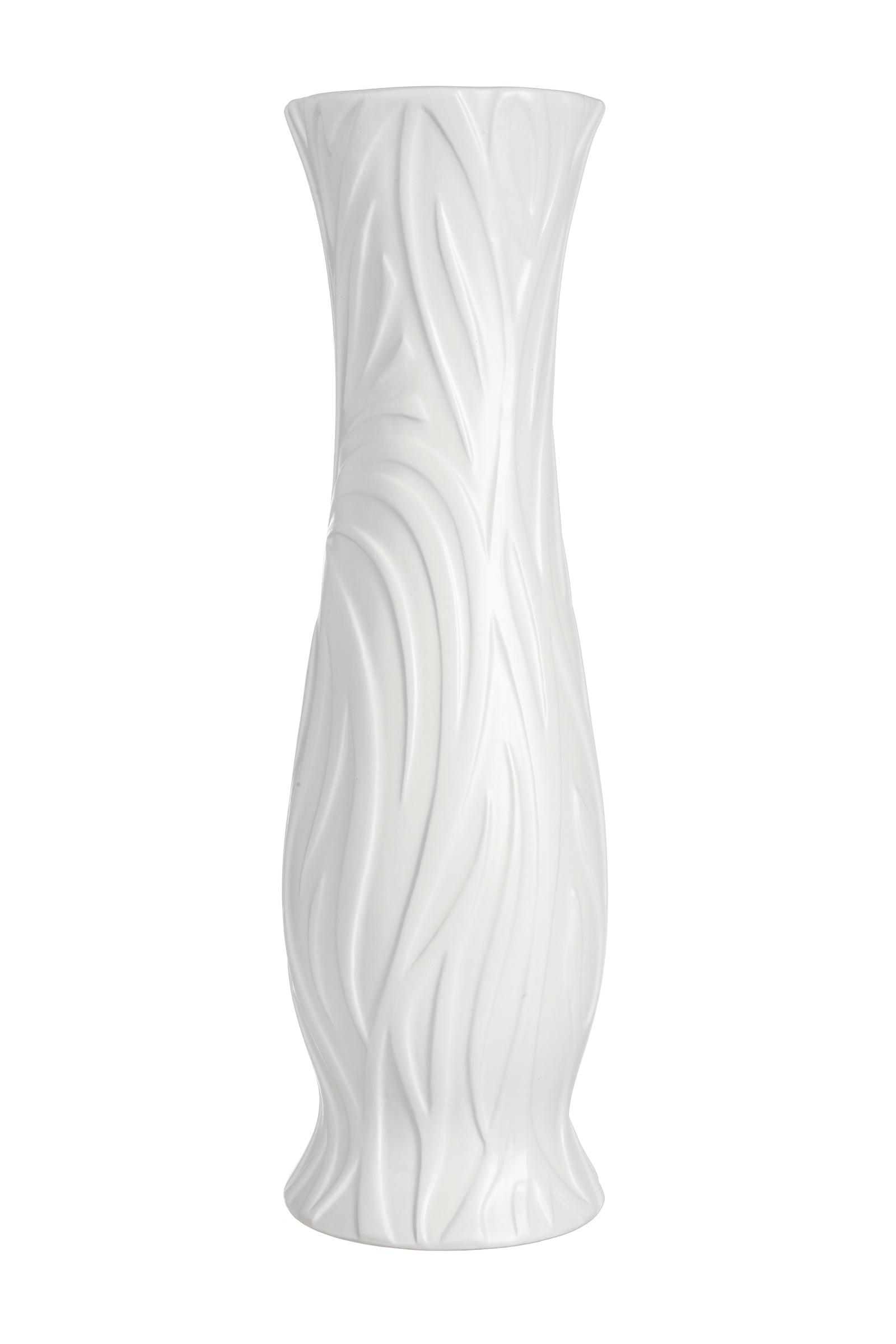 Ваза IsmatDecor Керамическая ваза, VB-77N белый, Керамика loucicentro ваза напольная птицы