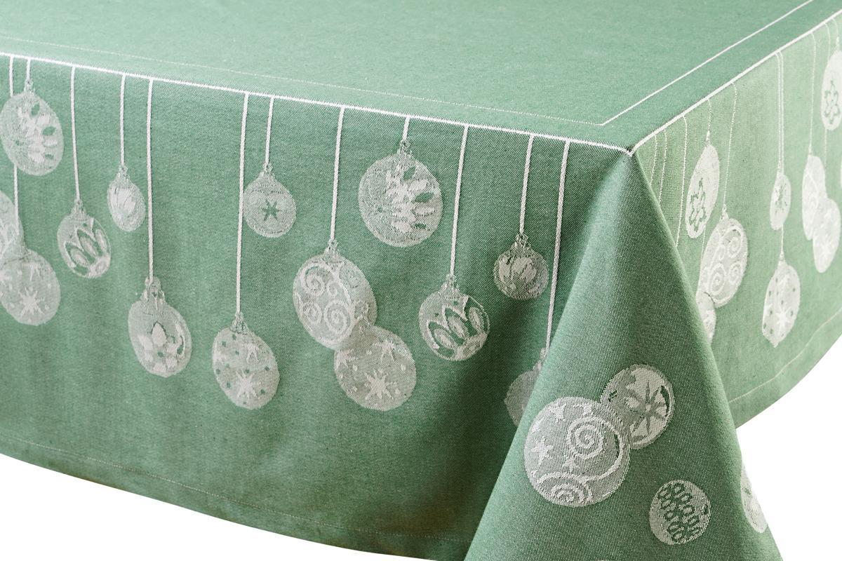 """Скатерть Votex Home """"Шары"""", цвет: зеленый, 110 x 150 см"""