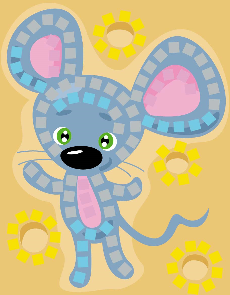Набор для творчества Десятое королевство Аппликация. Мышка на сыре десятое королевство набор для творчества золушка десятое королевство