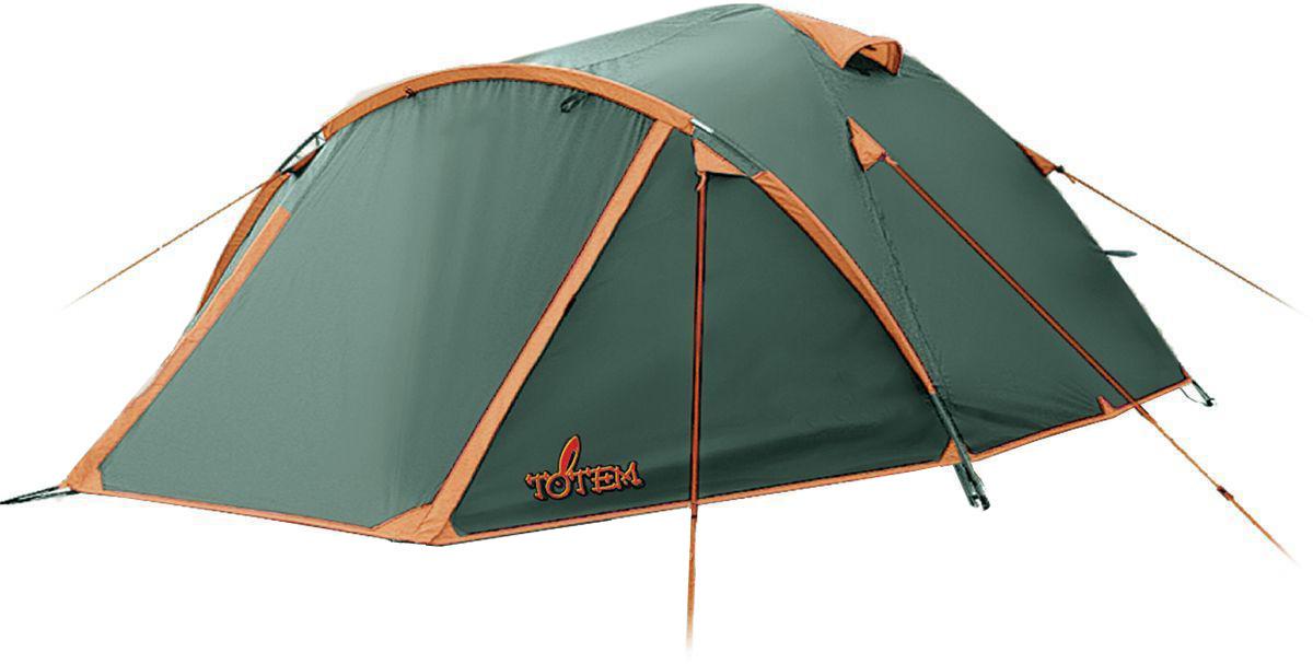 Палатка Totem Indi-3 (V2), цвет: зеленый. TTT-018