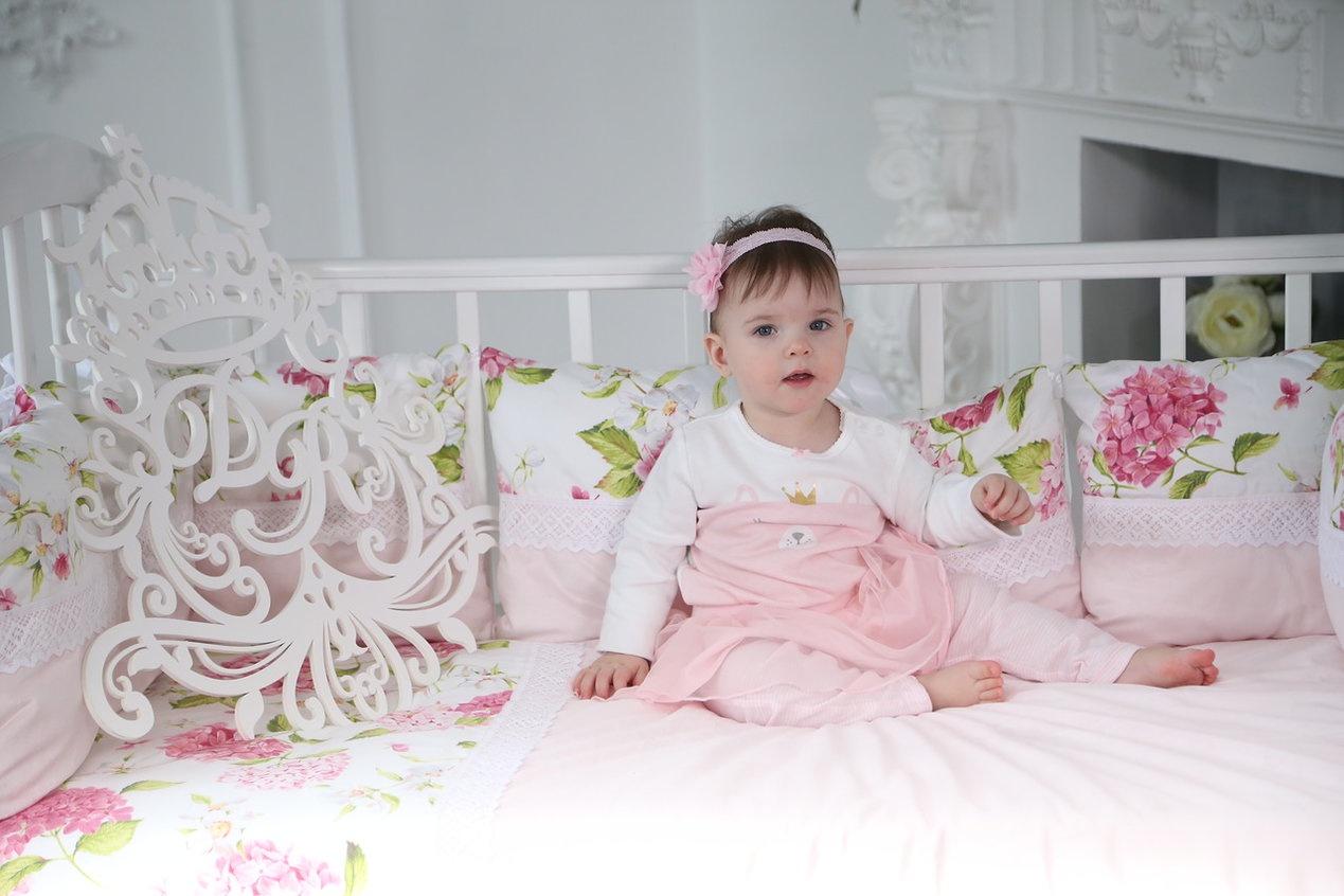 Комплект в кроватку Dream Royal Гортензия, розовый