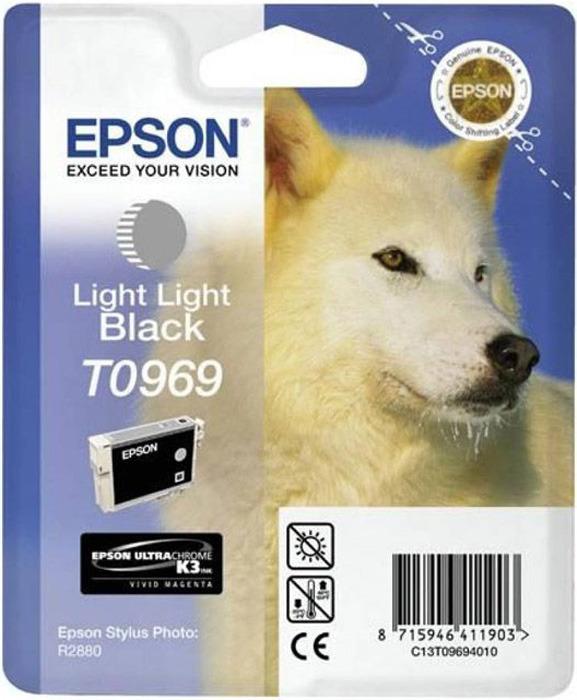 Картридж Epson T0969 (C13T09694010), светло-серый original cc03main mainboard main board for epson l455 l550 l551 l555 l558 wf 2520 wf 2530 printer formatter